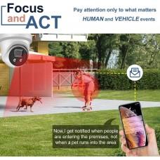 Galaxy Platinum 4K AcuSense AI Full Color Active Deterrence IPC