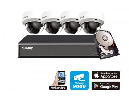 Galaxy Hunter 4 Channel 4MP AI IP Kit