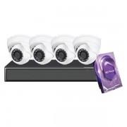4CH Galaxy Hunter Series 5MP IP Eyeball Kit
