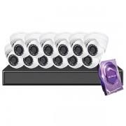 16CH Galaxy Hunter Series 5MP IP Eyeball Kit