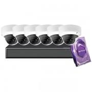 8CH Galaxy Hunter Series 5MP IP Mini Dome Kit