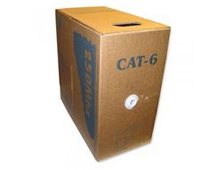4p 23awg Solid 550mhz Cat-6 Blue