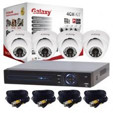 2mp Dome 4 Cameras + Dvr Galaxy Kit