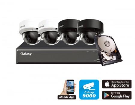 Galaxy Hunter 4CH 4MP Starlight IP AI Mini Dome Kit
