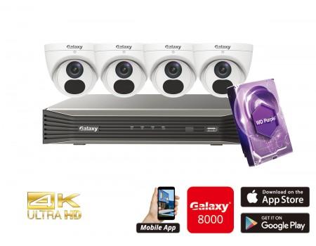 Galaxy Elite 4CH 4K IP Turret Kit
