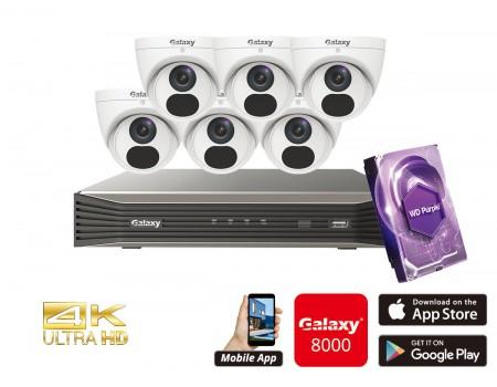 Galaxy Elite 8CH 4K IP Turret Kit