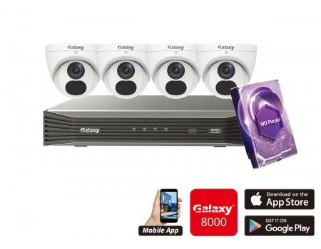 Galaxy Elite 4CH 5MP IP Turret Kit