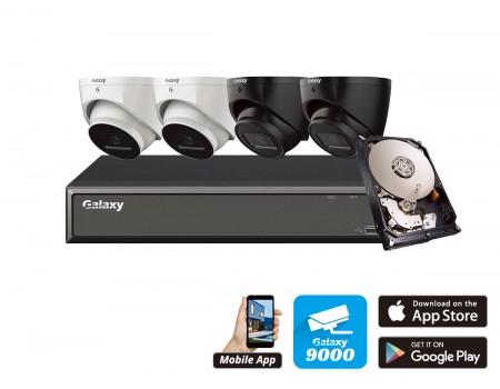 Galaxy Hunter 4CH 4MP Starlight AI IP Turret Kit