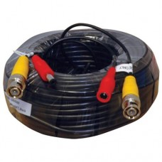 Pre-made Siamese Cable With Connectors - 100ft White