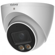 Galaxy Hunter 5mp Ai 247 Full-color Warm Led Turret Ip Camera / Smd Plus / Perimeter Protection / H.265+ / 30 Meters Ir Distance / Wdr / Intrusion, Tripwire / Vehicle, Human / Sd Card Support Max 256gb / Build -in Mic /alarm / Poe / Ip67 / 2.8mm Lens / Ju