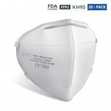 20-Pack KN95 Mask Respirator (FDA Cleared, European FFP2, CE EN149)