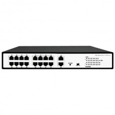 16-Port 10/100Mbps IEEE 802.3af/802.3at PoE Switch, extra 2 uplink
