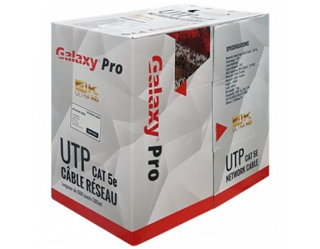 Galaxy Premium Quality CAT5E 1000FT FT4 Bare Copper Cable Pull Box - Black