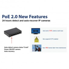 Galaxy 16CH 240W Support 250M Long Distance POE Switch