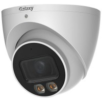 Galaxy Hunter 5MP AI Color 247 Full-color Warm LED Fixed Lens Turret IPC with Microphone Build-In