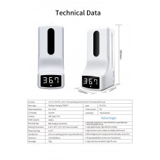 Automatic Thermometer & Hand Sanitizer Dispenser 2 IN 1