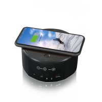 Galaxy Secreteyes 2MP HD Wireless Charger Speaker Camera Wi-Fi Security Support 32GB SD Card (Not Included)