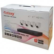 Galaxy 4CH HD-TVI 1080P Indoor/Outdoor Package