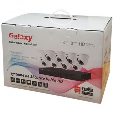 Galaxy 8CH HD-TVI 1080P Indoor/Outdoor Package