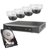 Galaxy Pro Starlight 2MP 4CH 4xDome IP Package - 2.8mm