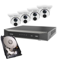 Galaxy Pro 4MP 4CH 4xTurret IP Package - 2.8mm