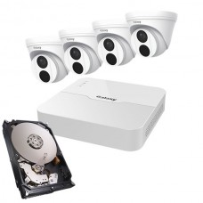 Galaxy Pro 2MP 4CH Turret IP Kit