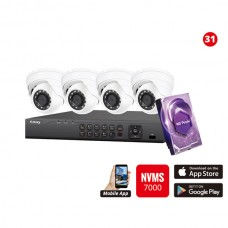 2MP Galaxy HD TVI Kit - 4 ch