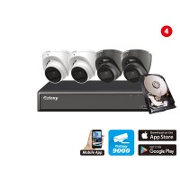 Hunter Series AI 5MP 5 in 1 HD Analog Kit 4 channel