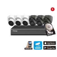 Hunter Series AI 5MP 5 in 1 HD Analog Kit 8 channel