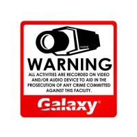 Galaxy CCTV Sticker Sign