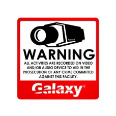 Galaxy CCTV Sticker Sign