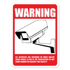 Outdoor CCTV Warning Sign - BIG