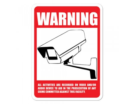 Outdoor CCTV Warning Sign - BIG