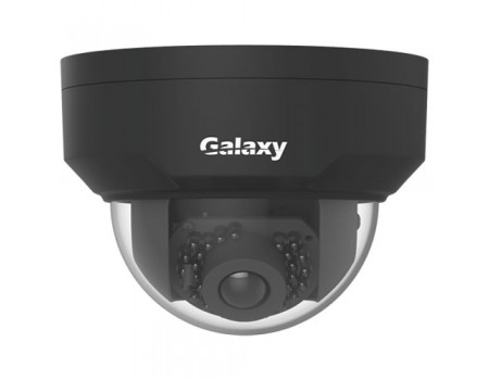 Galaxy Pro Series 4MP IR Mini Dome Camera - 2.8mm Black