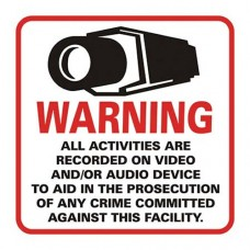 CCTV Warning Sticker - Big