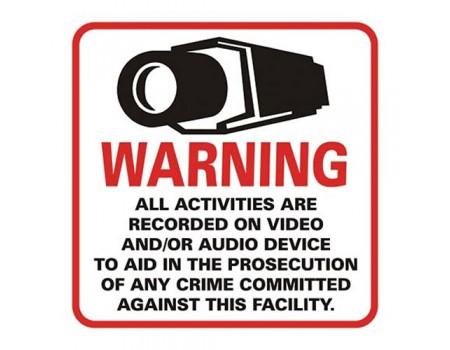 CCTV Warning Sticker - Big